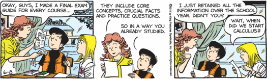 Image result for final exam comics